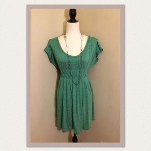 Max Studio women's soft jade green a-line dress